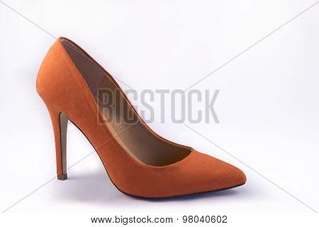 Orange High Heel Shoes