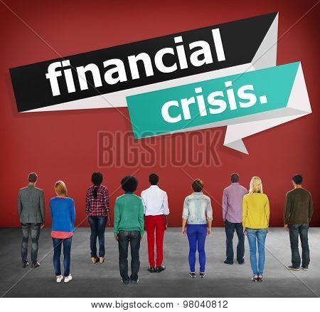 Financial Crisis Investment Risk Economics Concept