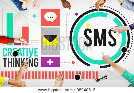 Sms Digital Messaging Communication Technology Concept