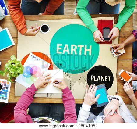 Earth Global Planet Globalization Connection Concept