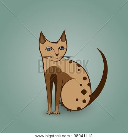 Nice kitty cat illustration
