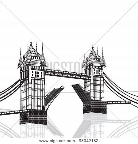 Tower Bridge, London Vector