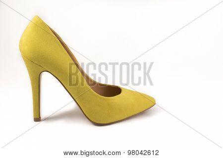 Yellow High Heel Shoe