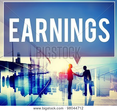 Earning Economy Finance Income Money Salary Concept