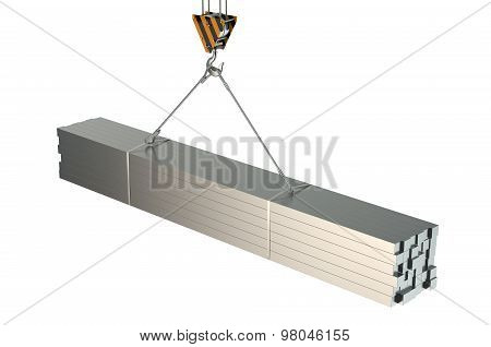 Crane Hook With Rolled Metal Square Bars