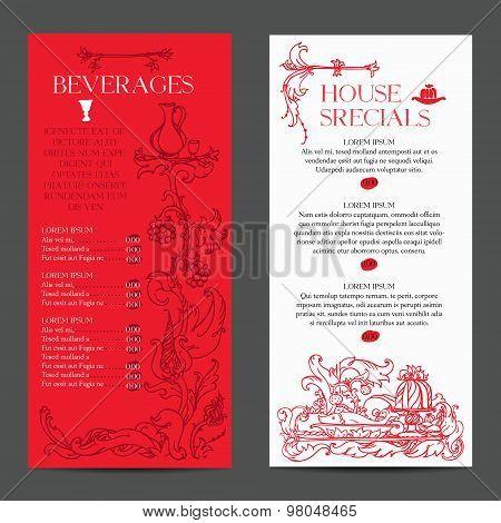 old medieval style menu