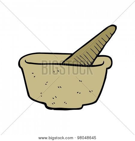 cartoon pestle and mortar