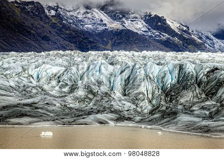 Glacier terminus in the south of Iceland