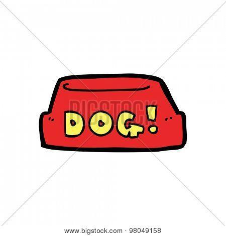 cartoon dog food