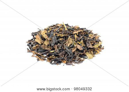 Heap Of Loose Tea Oolong On White