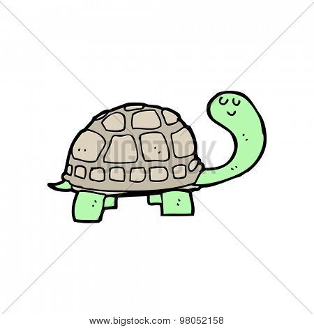 cartoon happy tortoise