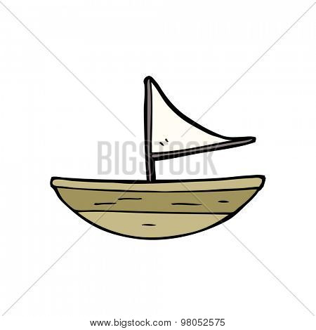 cartoon boat