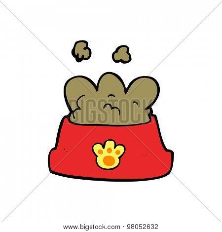 cartoon dog food bowl