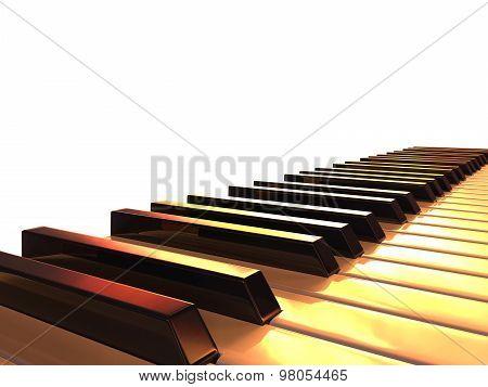 Black And White Shiny Piano Keyboard