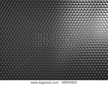 Texture of abstract black metal grid