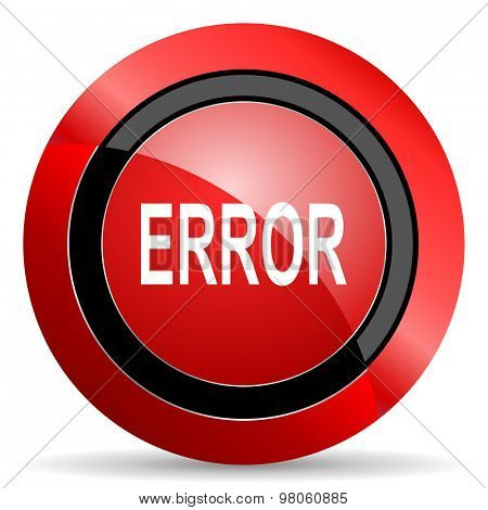 error red glossy web icon