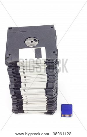 Sd Card And Floppy Disk