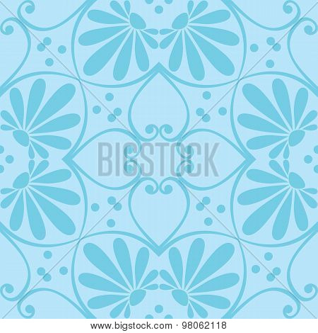 vector seamless floral ornament