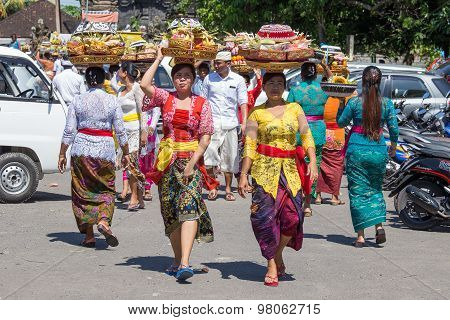 Indonesian People Celebrate Balinese New Year And The Arrival Of Spring