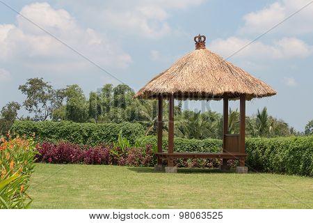 Gazebo On The Tropical Garden