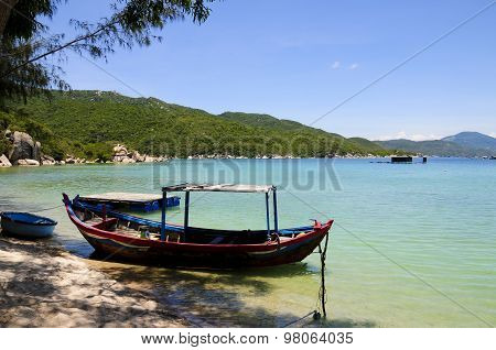 Boat in beautiful beach