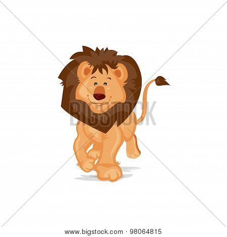 Cute Lion Walking