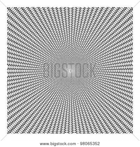 Creative Beautiful Concentric Circle Pattern Abstract Background. Technology Concept