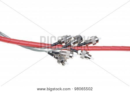 Telecommunication fiber optical patch cords fc