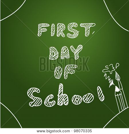 First day of school. Start of  new school year. Eps 10 vector file.
