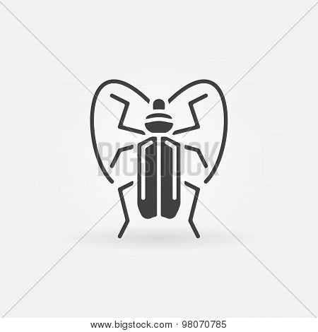 Bug or beetle icon