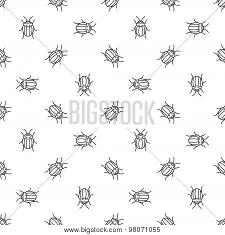 Colorado bugs seamless pattern