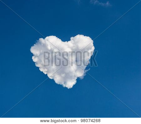 Heart Shape Formed From Clouds