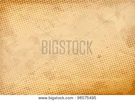 Vintage Halftone Background. Vector