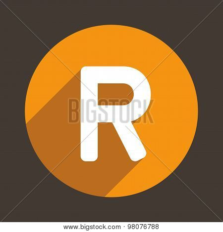 Letter R Logo Flat Icon Style. Vector