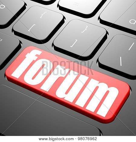 Keyboard With Forum Text