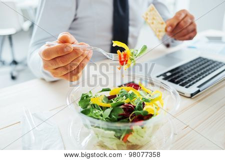 Businessman Having A Lunch Break