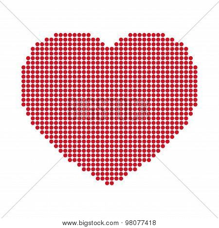 Vector dotted heart