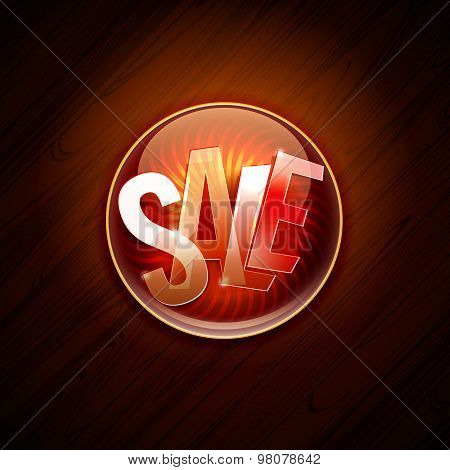 Hot Sale Offer Pin At Dark Wooden Background