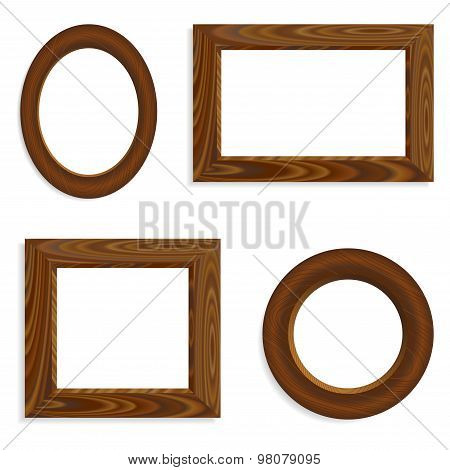 Vector Wooden Frames