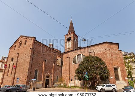 Side View Of Church Of San Marco In Milan, Italy