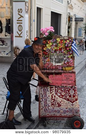 Man With Greek Laterna