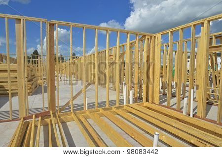 Framing of an apartment building