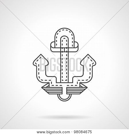 Anchor thin line vector icon