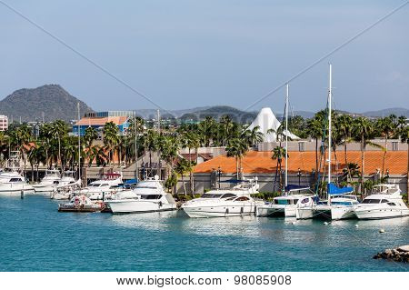 White Yachts In Aruba