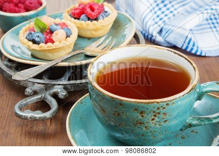 Delicious Breakfast With Fruit Tartlets
