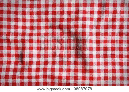 Red And White Checkered Picnic Blanket.