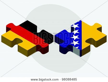 Germany And Bosnia And Herzegovina Flags