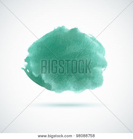 Mint bright watercolor spot