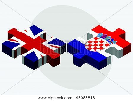 United Kingdom And Croatia Flags