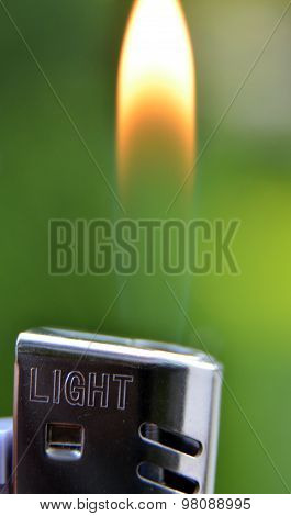 Lighter Flame, Macro